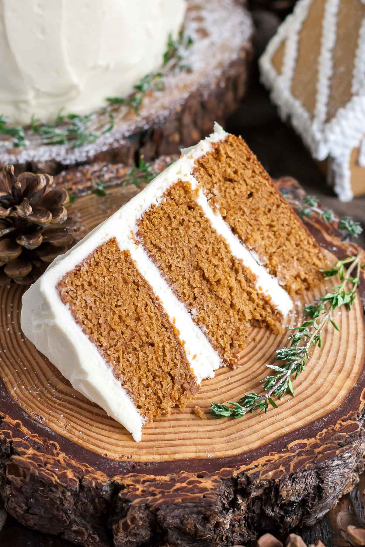 Image result for gingerbread cake with cream cheese frosting