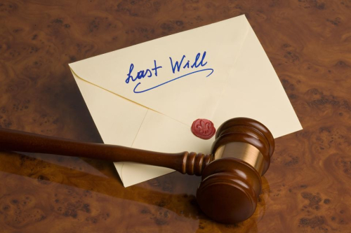 Last will envelope